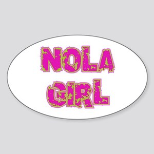 NOLA Girl Oval Sticker