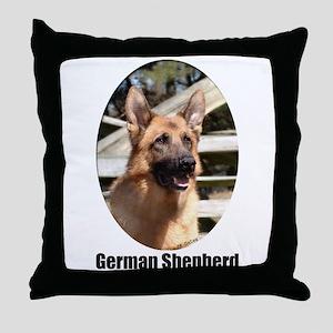 German Shepherd (Color)- Throw Pillow
