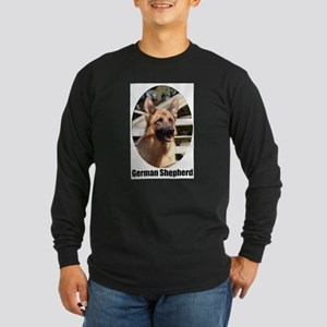 German Shepherd (Color)- Long Sleeve Dark T-Shirt