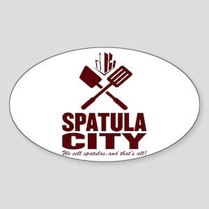 spatula city Oval Sticker