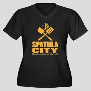spatula city Women's Plus Size V-Neck Dark T-Shirt