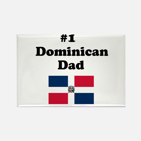 #1 Dominican Dad Rectangle Magnet