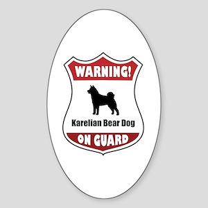 Karelian On Guard Oval Sticker