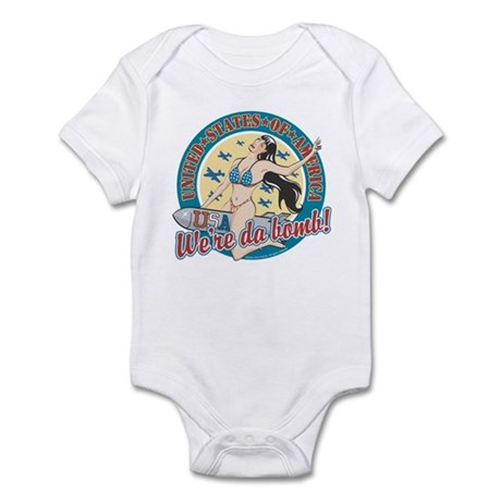 Patriotic Pinup Girl Infant Bodysuit
