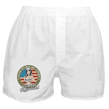 Patriotic Pinup Girl Boxer Shorts