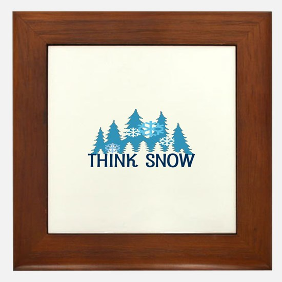 Think Snow Framed Tile