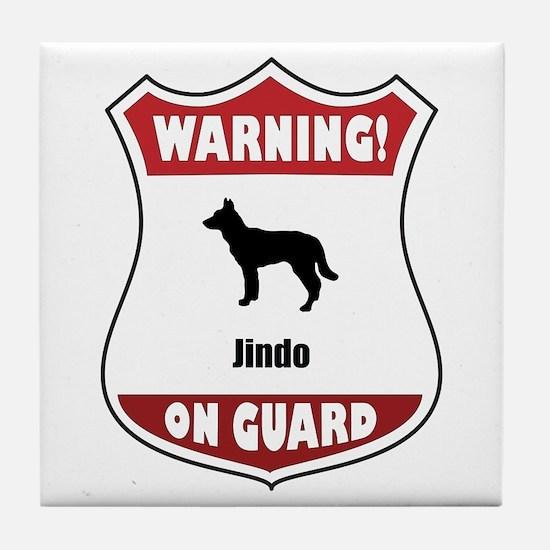 Jindo On Guard Tile Coaster