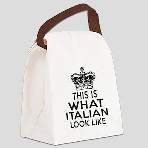 I Am Italian Canvas Lunch Bag