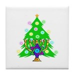 Christmas and Hanukkah Interfaith Tile Coaster