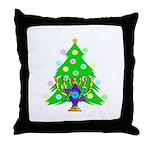 Christmas and Hanukkah Interfaith Throw Pillow