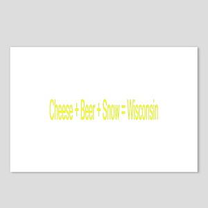 cheese, beer, snow Postcards (Package of 8)
