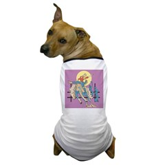 Sexy Cowgirl Riding Bronco Horse Dog T-Shirt