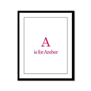 A is for Amber Framed Panel Print