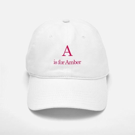 A is for Amber Baseball Baseball Cap