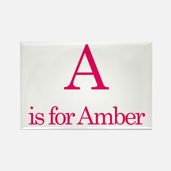 A is for Amber Rectangle Magnet (10 pack)