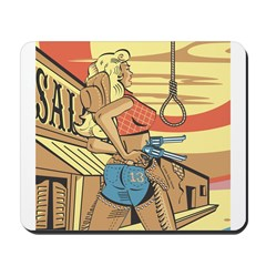 Sexy Western Cowgirl Pop Art Mousepad