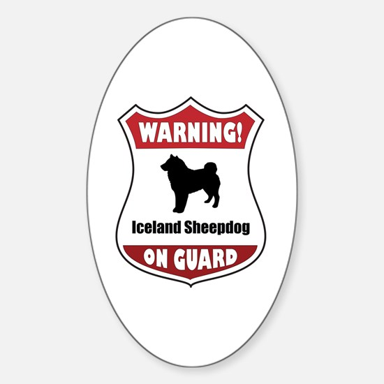 Sheepdog On Guard Oval Decal