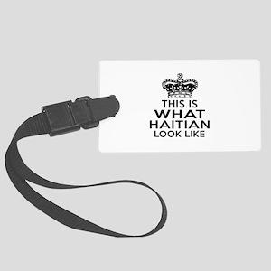 I Am Haitian Large Luggage Tag
