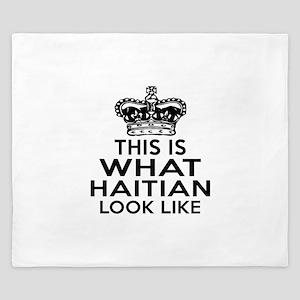 I Am Haitian King Duvet