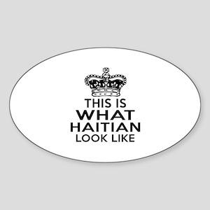 I Am Haitian Sticker (Oval)