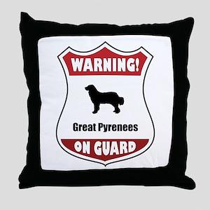 Pyrenees On Guard Throw Pillow