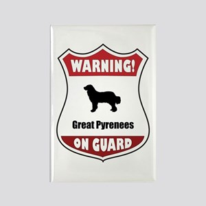 Pyrenees On Guard Rectangle Magnet