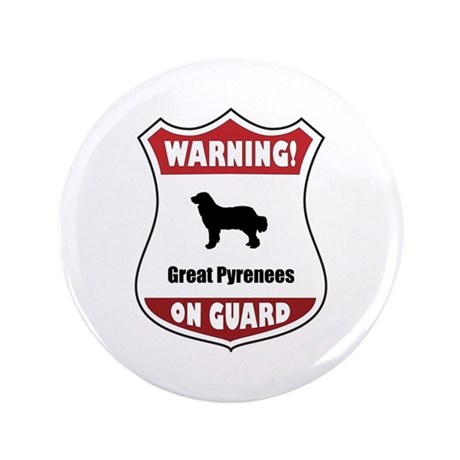 """Pyrenees On Guard 3.5"""" Button (100 pack)"""