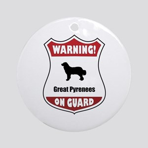 Pyrenees On Guard Ornament (Round)
