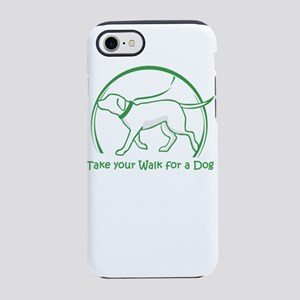 dog walking iPhone 8/7 Tough Case