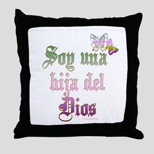 soy una hija del dios Throw Pillow