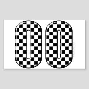 Race Car #00 Rectangle Sticker