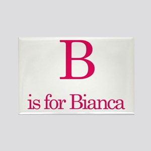 B is for Bianca Rectangle Magnet (10 pack)