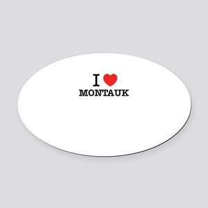I Love MONTAUK Oval Car Magnet