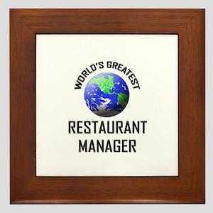 World's Greatest RESTAURANT MANAGER Framed Tile