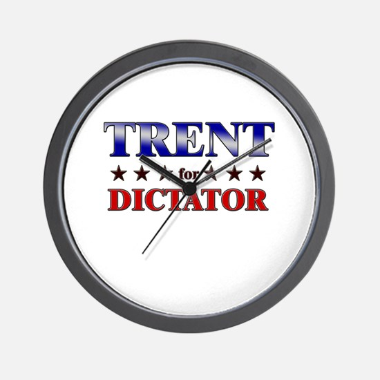 TRENT for dictator Wall Clock