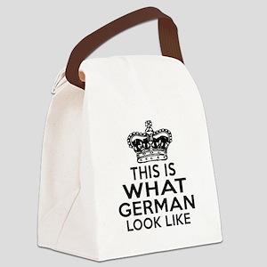 German Look Like Designs Canvas Lunch Bag