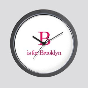 B is for Brooklyn Wall Clock