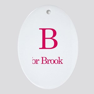 B is for Brooklyn Oval Ornament
