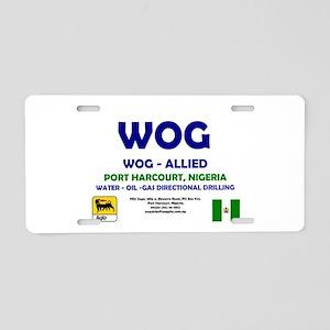 WOG NIGERIA - PORT HARCOURT Aluminum License Plate