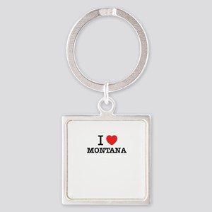 I Love MONTANA Keychains
