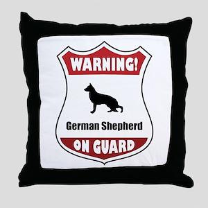 Shepherd On Guard Throw Pillow