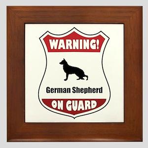 Shepherd On Guard Framed Tile