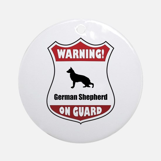 Shepherd On Guard Ornament (Round)