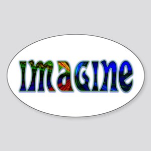 IMAGINE Oval Sticker