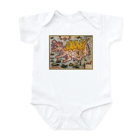 """Iceland Map"" Infant Bodysuit"