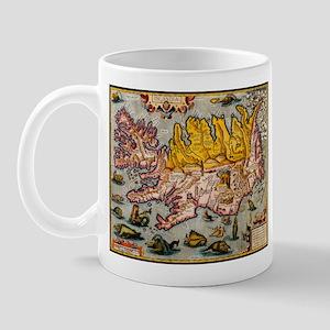 """""""Iceland Map"""" Mug"""