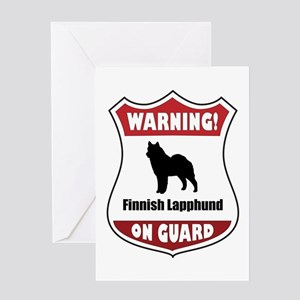 Lapphund On Guard Greeting Card