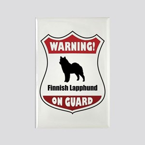 Lapphund On Guard Rectangle Magnet