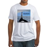 WHALE DANCER Fitted T-Shirt