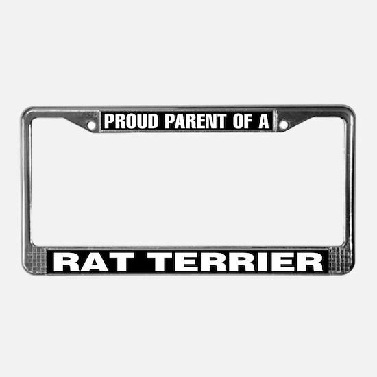 Proud Parent of a Rat Terrier License Plate Frame